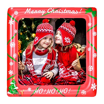 Amazoncom Luoem Christmas Inflatable Frame Photo Booth Props
