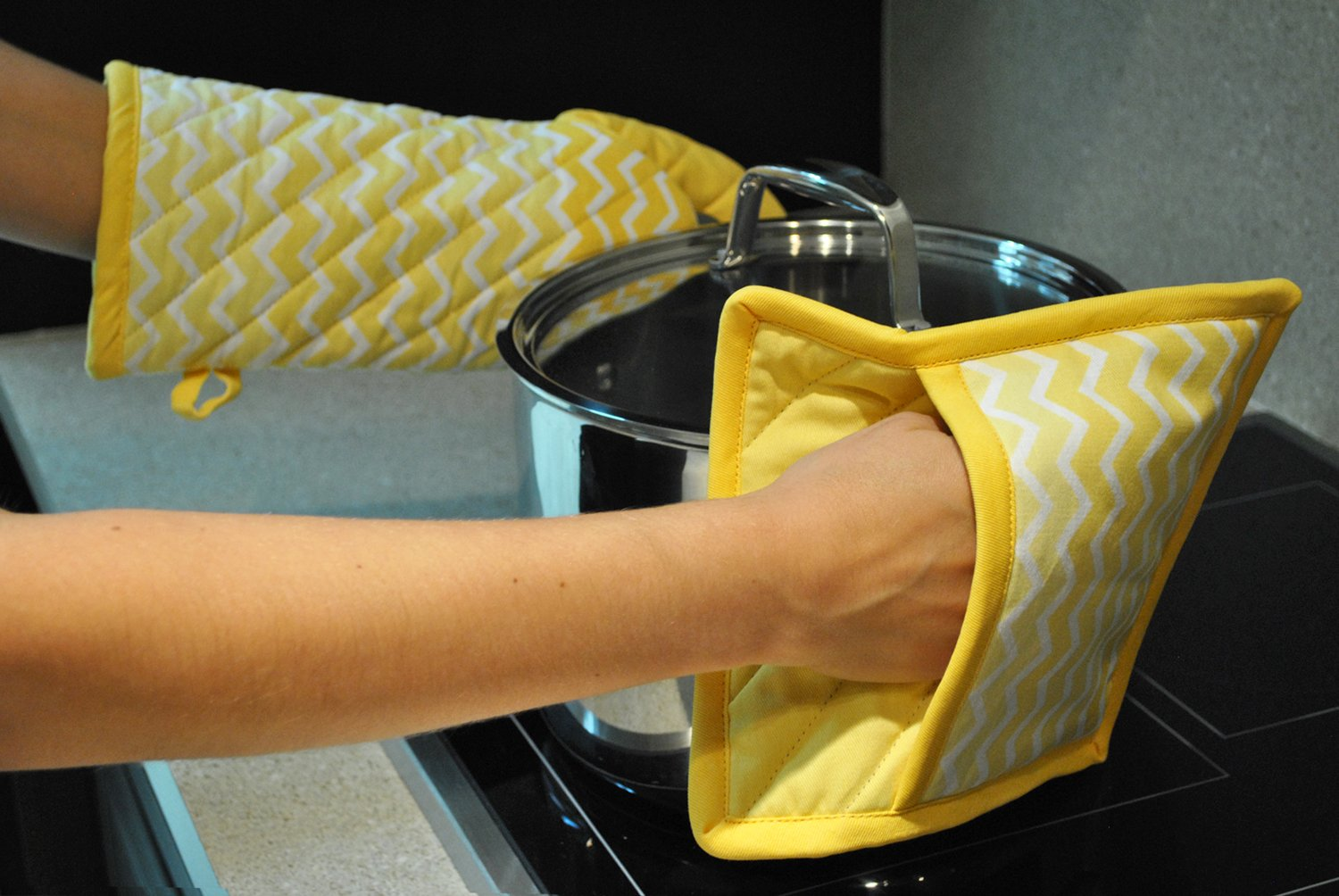 DII Chevron Washable Resistant Baking Yellow Image 3