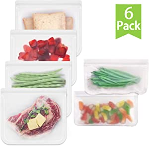 Giveaway: Reusable Storage Bags 6 Pack Leakproof Airtight Freezer...