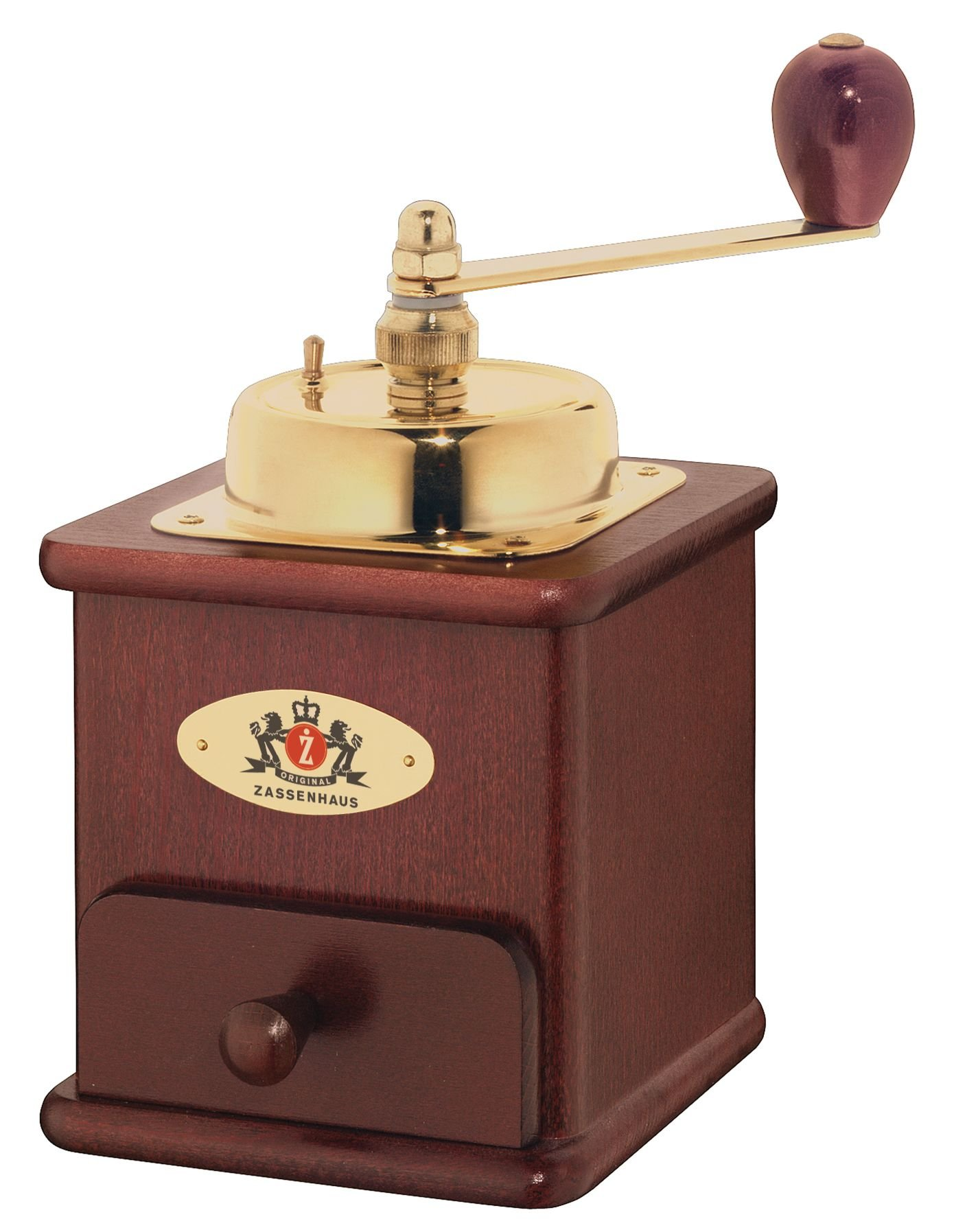 Zassenhaus ''Brasilia'' Mahogany Manual Coffee Mill by Zassenhaus