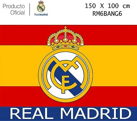 Producto Oficial Real Madrid Bandera del Real Madrid -Incluye Tatuajes(Colores De España 150x100CM): Amazon.es: Deportes y aire libre