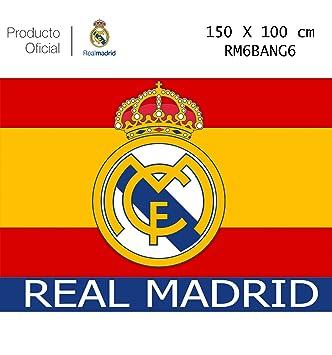 Producto Oficial Real Madrid Bandera del Real Madrid -Incluye Tatuajes(Colores De España 150x100CM
