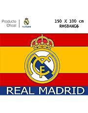 Producto Oficial Real Madrid Bandera del Real Madrid -Incluye  Tatuajes(Colores De España 150x100CM 29959ca964d