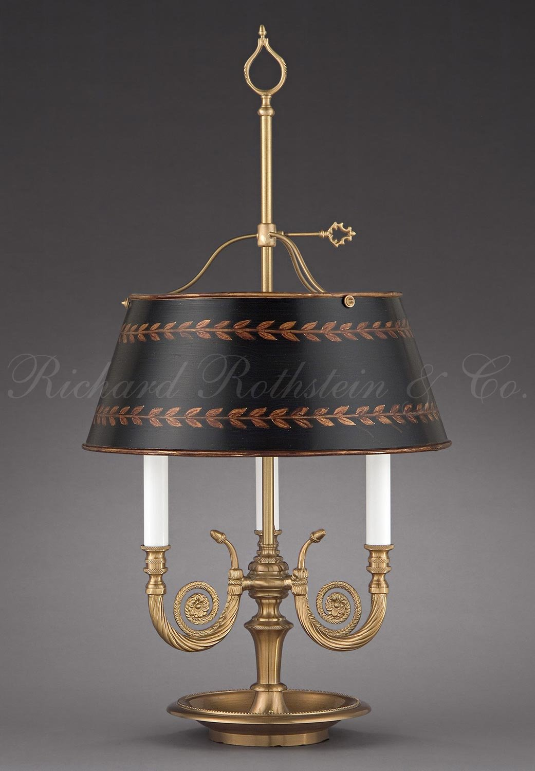 Amazon high end traditional directoire antique style formal amazon high end traditional directoire antique style formal brass bouillotte bankers federal empire three horn table lamp with hand painted shade aloadofball Choice Image