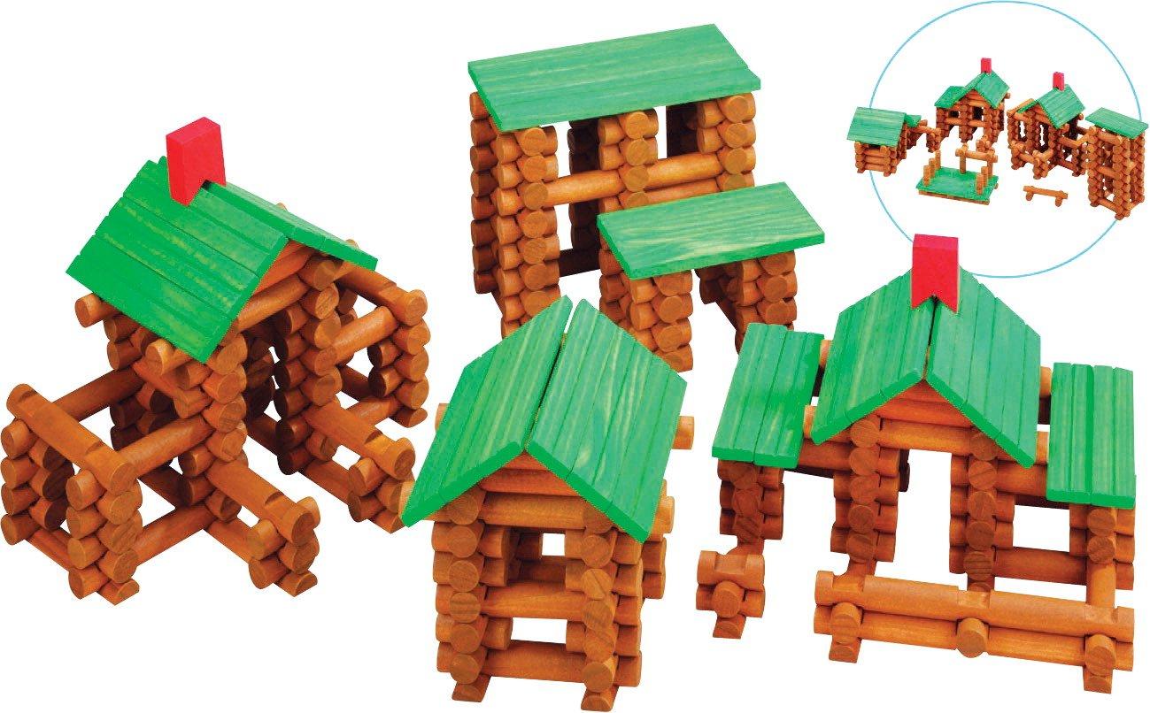 School Smart 074664 Tumbletree Timbers Building Set, Wood (Pack of 300)