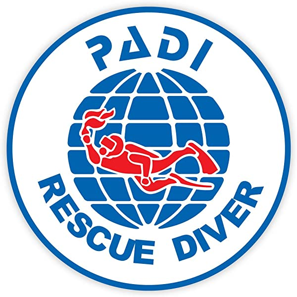 """scuba dive diving decal Star of Life Shaped RESCUE DIVER Sticker 2/"""""""