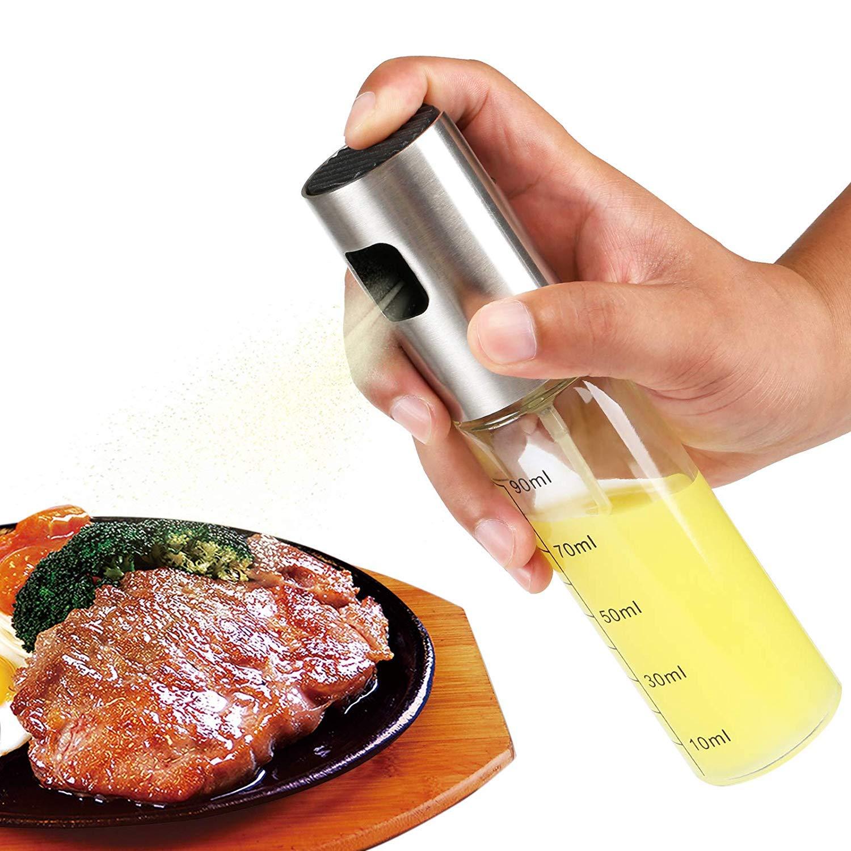 Gwhole Pulv/érisateur dhuile dolive Distributeur dhuile Vinaigre Bouteille de Pulv/érisation en Verre pour BBQ Salade Cuisson Friture