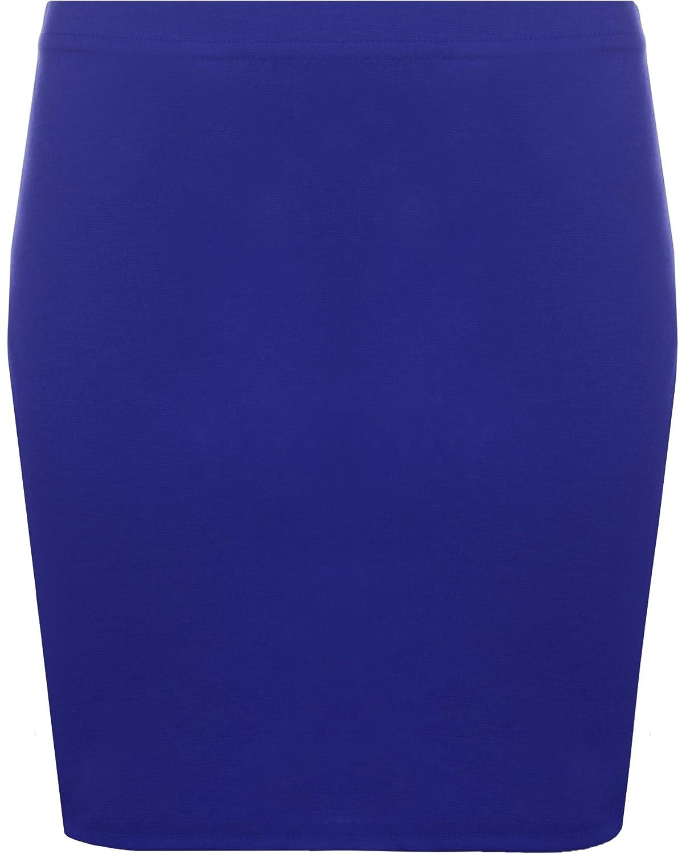WearAll - Damen Bodycon Elastisch Micro Mini Skirt Gummizug Kurze - 13 Farben - Größe 36-42 16642