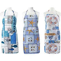 FBTS Prime Cute Apron Kitchen Sets 3 Pack for Women and Men Water Resistant Adjustable Buckles with Two Big Front…