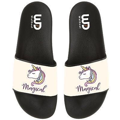 Unisex Magical Unicorns Flip Flop House Athletic Sandal For Walking