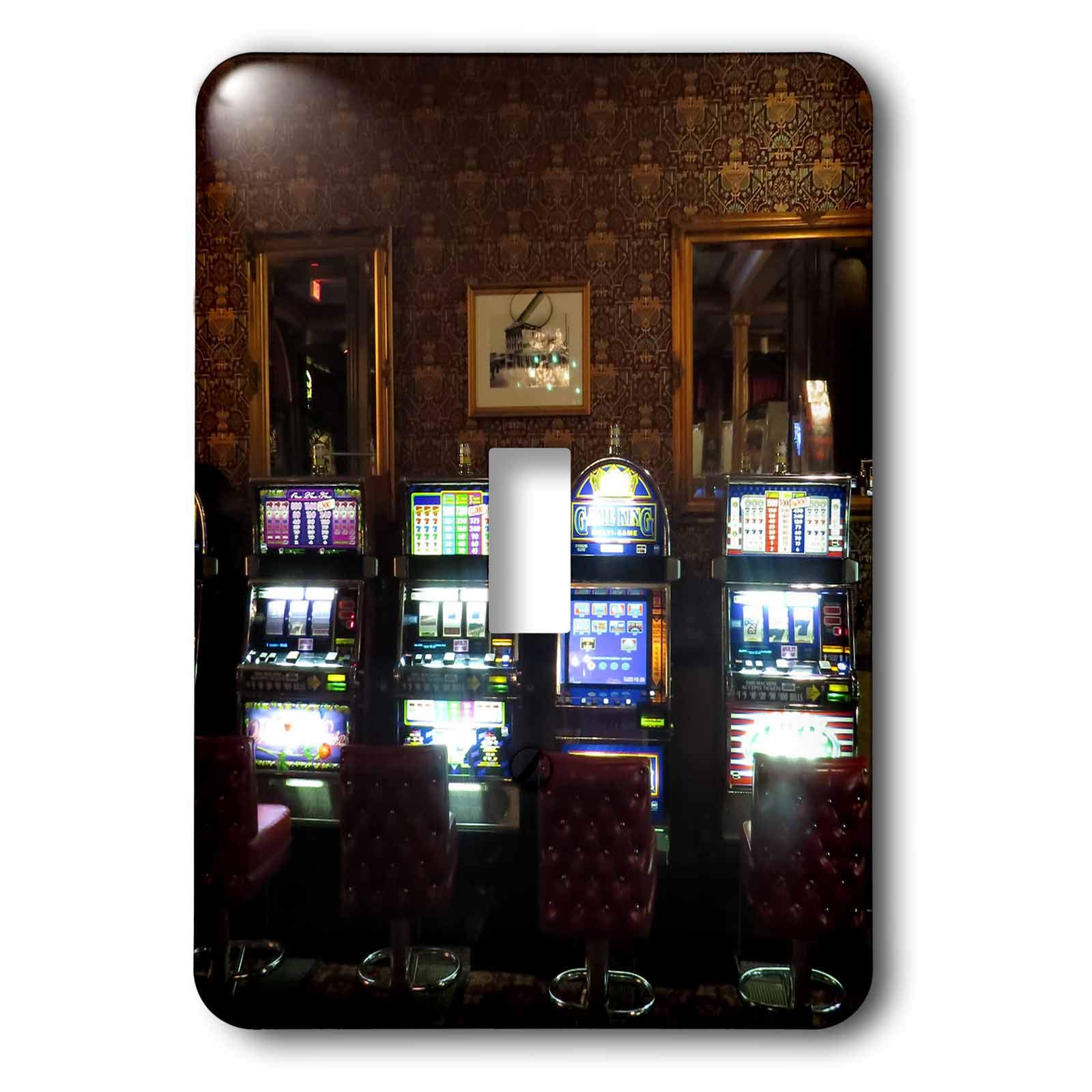 3dRose Jos Fauxtographee- Mizpah Casino - A casino inside the first floor at the Mizpah hotel with slot machines - Light Switch Covers - single toggle switch (lsp_291366_1)