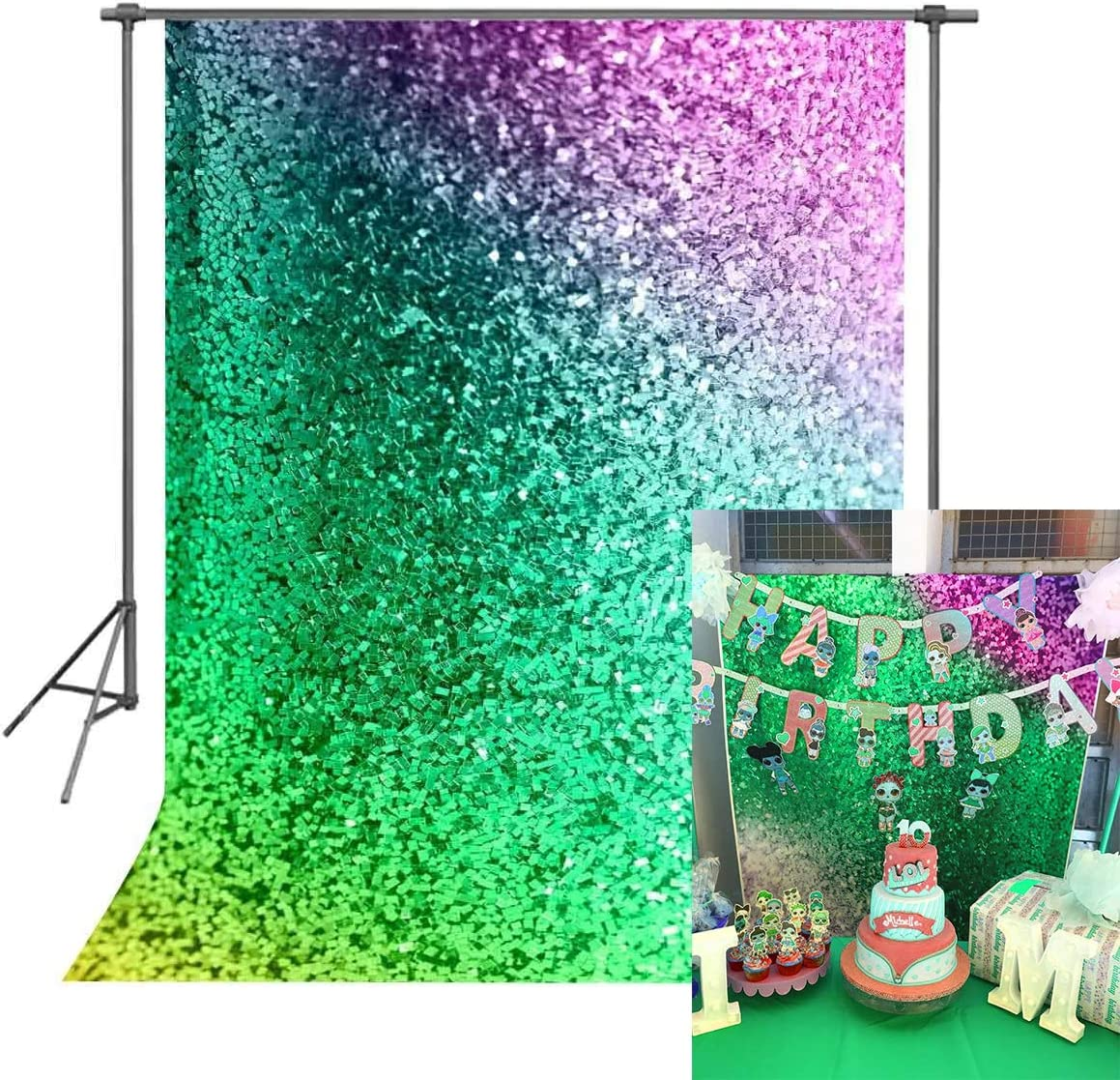 FUERMOR Background 5x7ft Colorful Backdrop Makeup Photo Video Photography Studio Props GEFU802