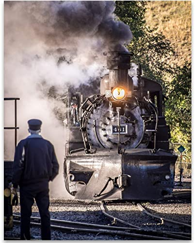 "Trains Railroad Artwork Photo Print 11x14/"""