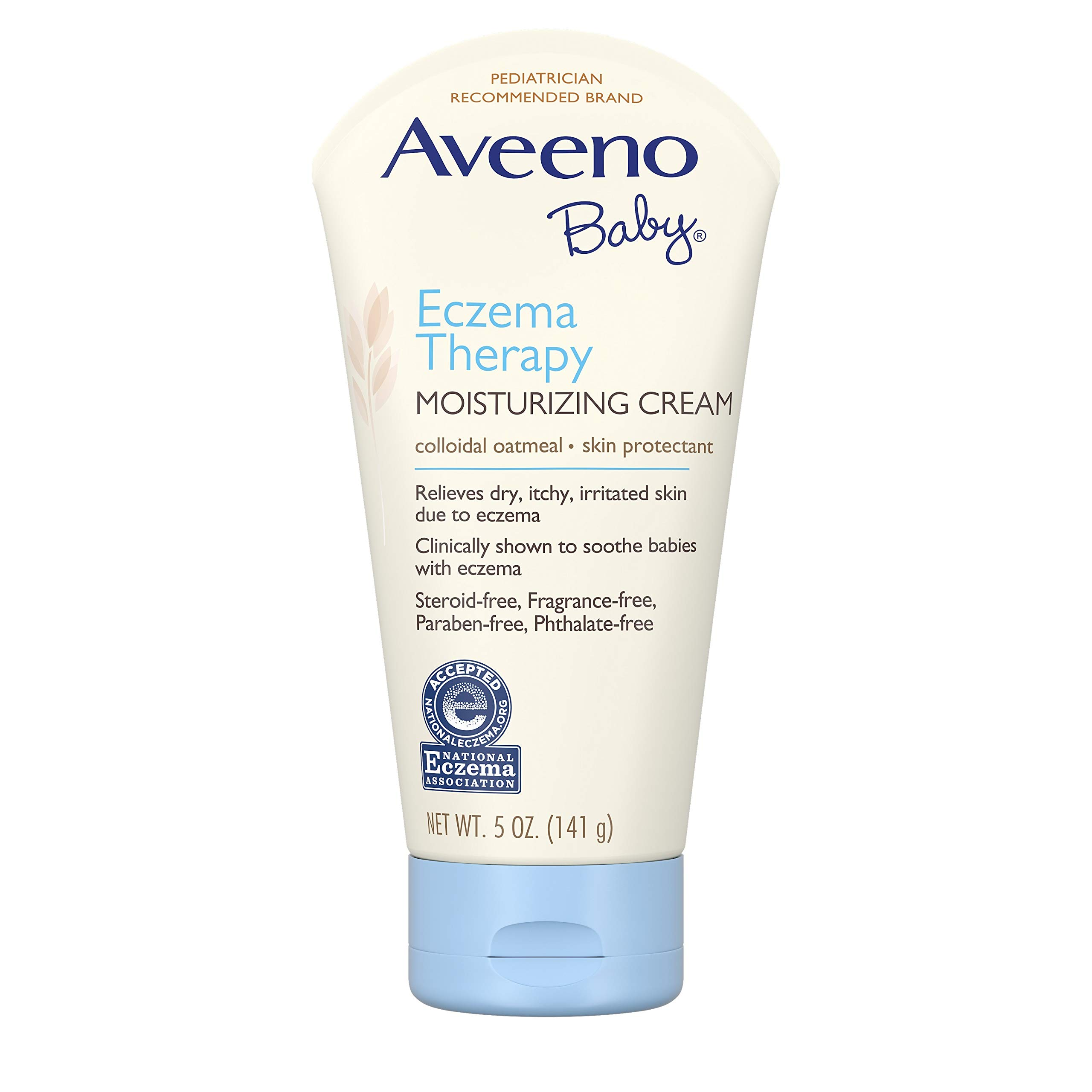 Aveeno Baby Eczema Therapy Moisturizing Cream with Natural Colloidal Oatmeal for Eczema Relief, 5 oz