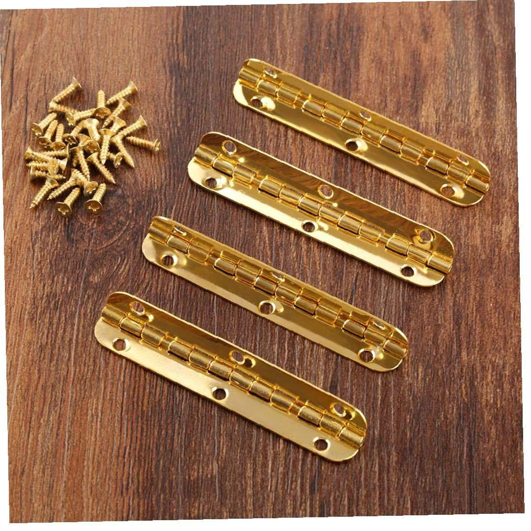 4pcs Oro Gabinete Bisagras Hardware De Los Muebles Caja De M/úsica Casa Ventana De La Puerta De La Bisagra