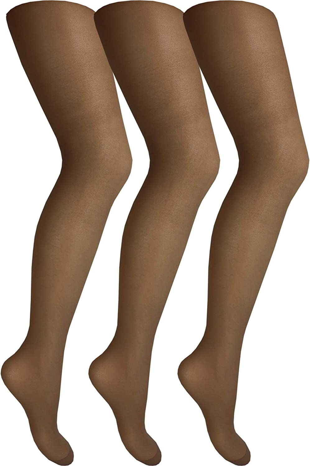 3 Pair Pack Cindy Womens Ladder Resist Tights with Panel Gusset