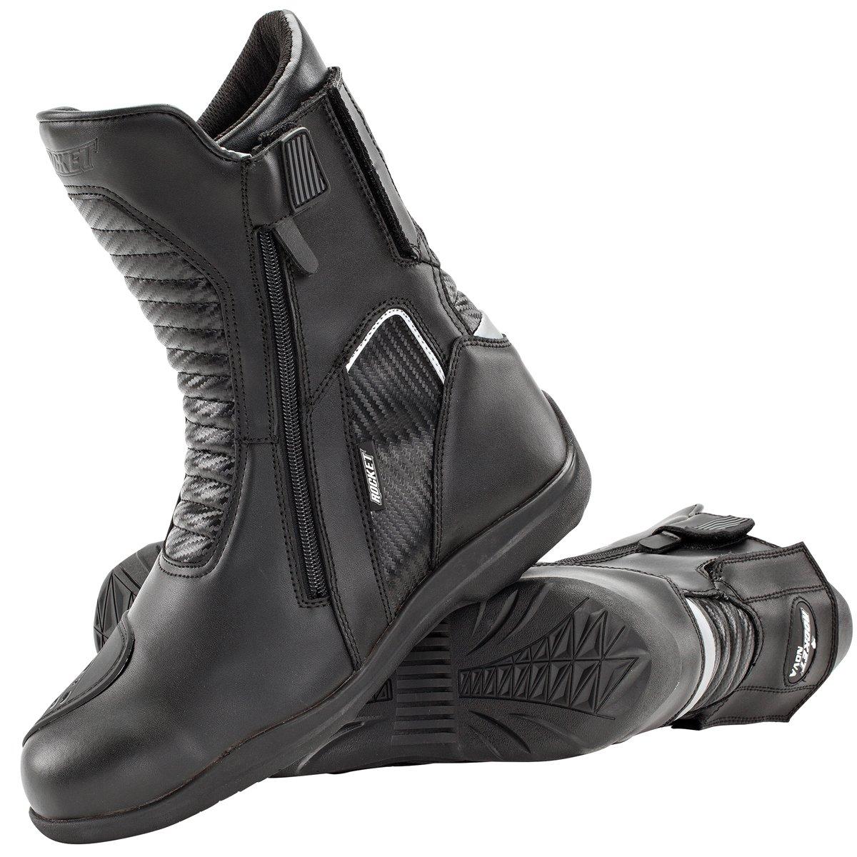 Joe Rocket Men's Nova Leather Boots (Black, Size 11)