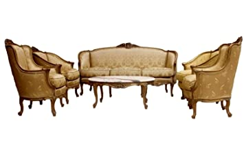 Amazon.com: Chans Furniture Hand Carved French Provincial ...