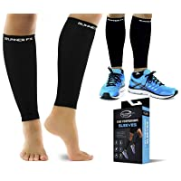 Pro Calf Compression Sleeve Men and Womens (20-30mmHg) - Shin Splint Leg Compression...