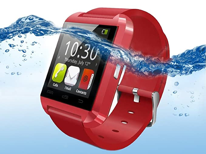 YOUNGFLY U8 Bluetooth Smart Watch WristWatch Phone for Android OS and IOS Smartphone Samsung S4 S5 Note 2 Note 3 and HTC , Red