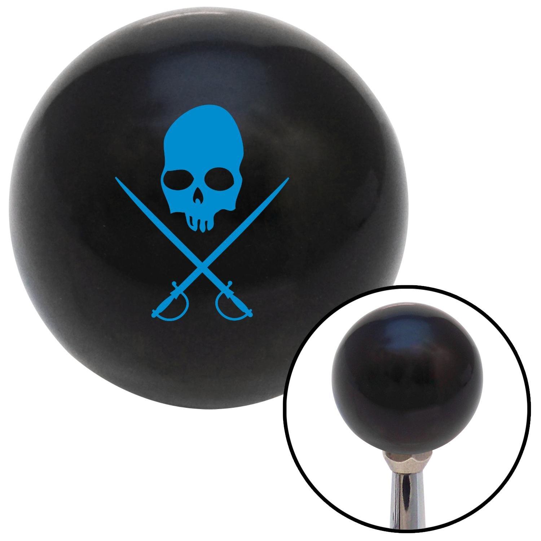 Blue Skull /& Swords American Shifter 109344 Black Shift Knob with M16 x 1.5 Insert