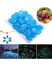 Piccoli ciottoli sintetici che brillano al buio, decorazione per giardino o acquario per esterni