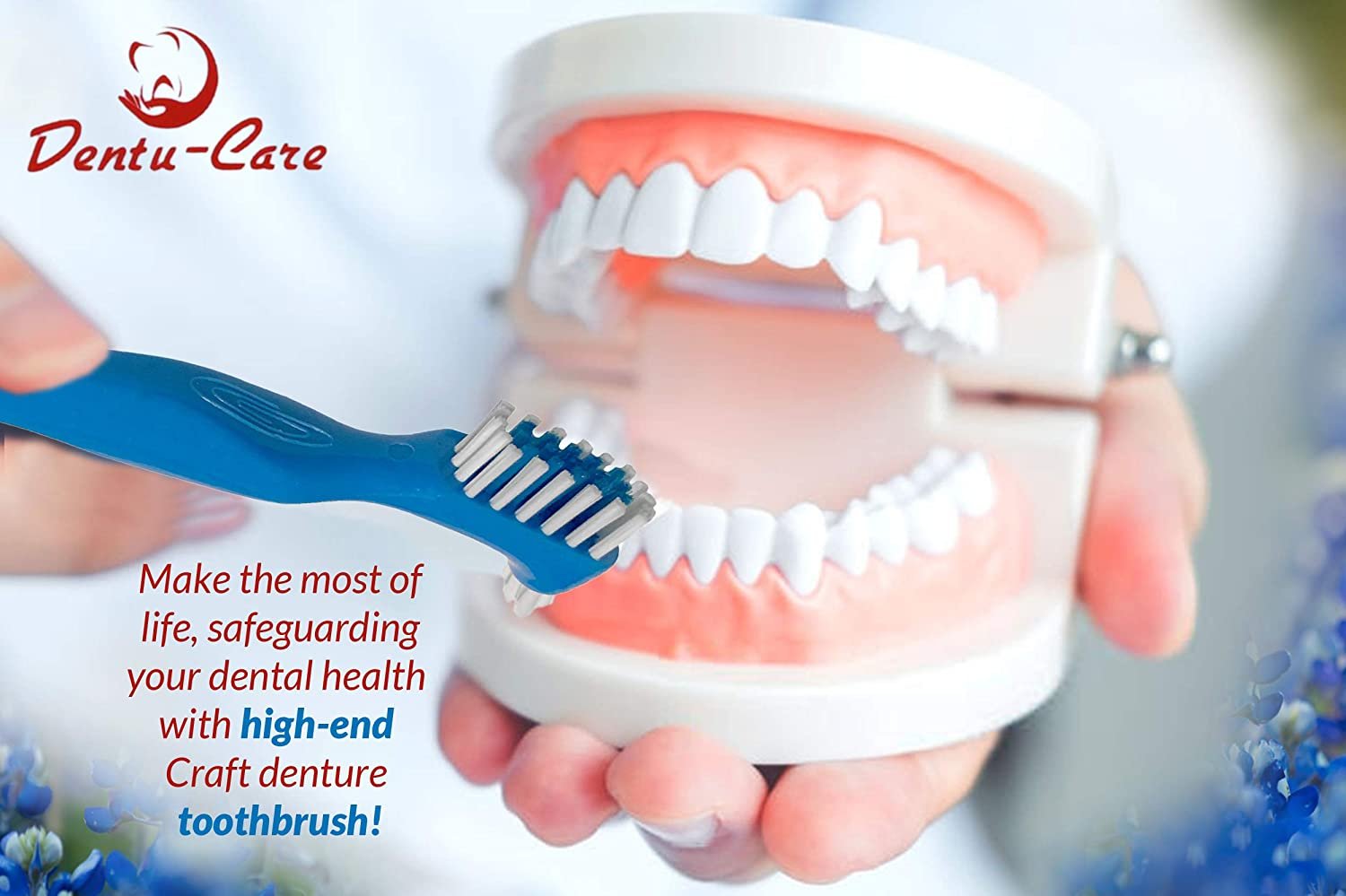 Dentu-Care Denture Case with 2 Denture Cleaning Brushes, Retainer Case with Lid and Draining Basket for Cleaning and Storing: Health & Personal Care