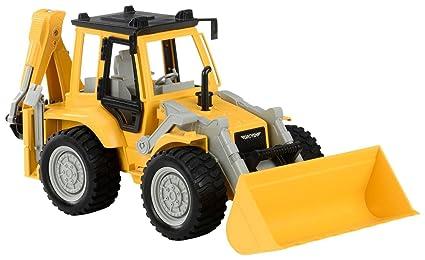 amazon com driven backhoe loader vehicle toys games