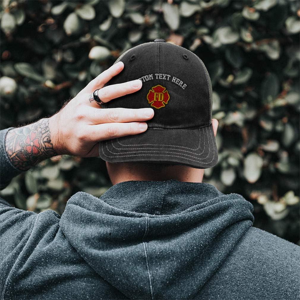 Custom Trucker Hat Richardson Fd Fire Department Embroidery Design Cotton Snaps