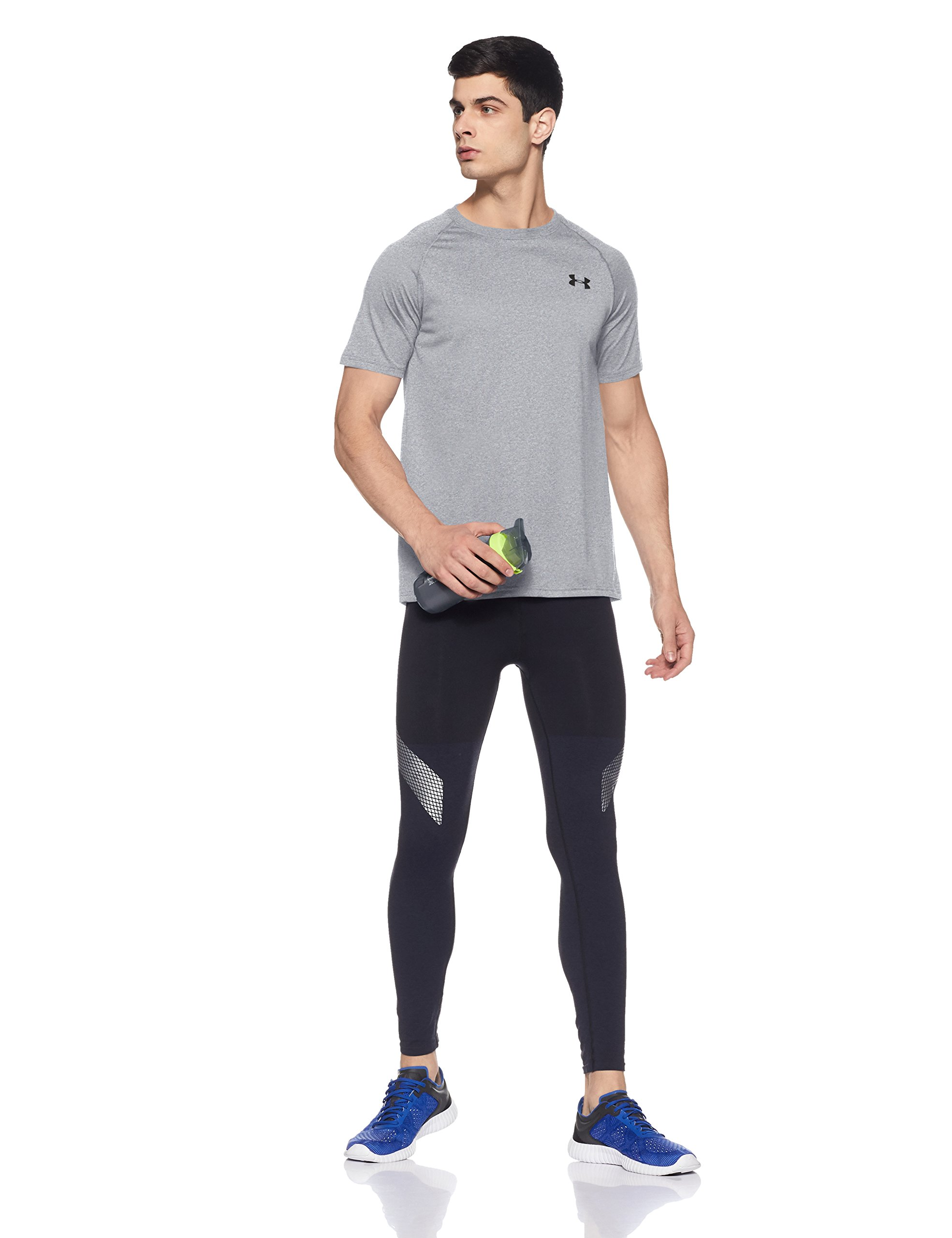 Under Armour Men's Tech Short Sleeve T-Shirt, True Gray Heather /Black, XXXXX-Large by Under Armour (Image #8)