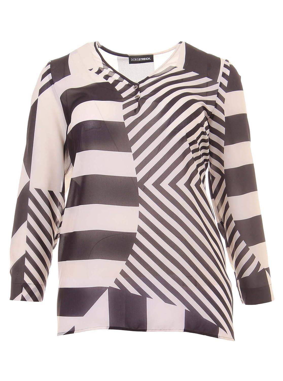 Bluse im Muster-Mix in schwarz/weiß in Übergrößen (42, 44, 48, 50, 52) von Doris Streich