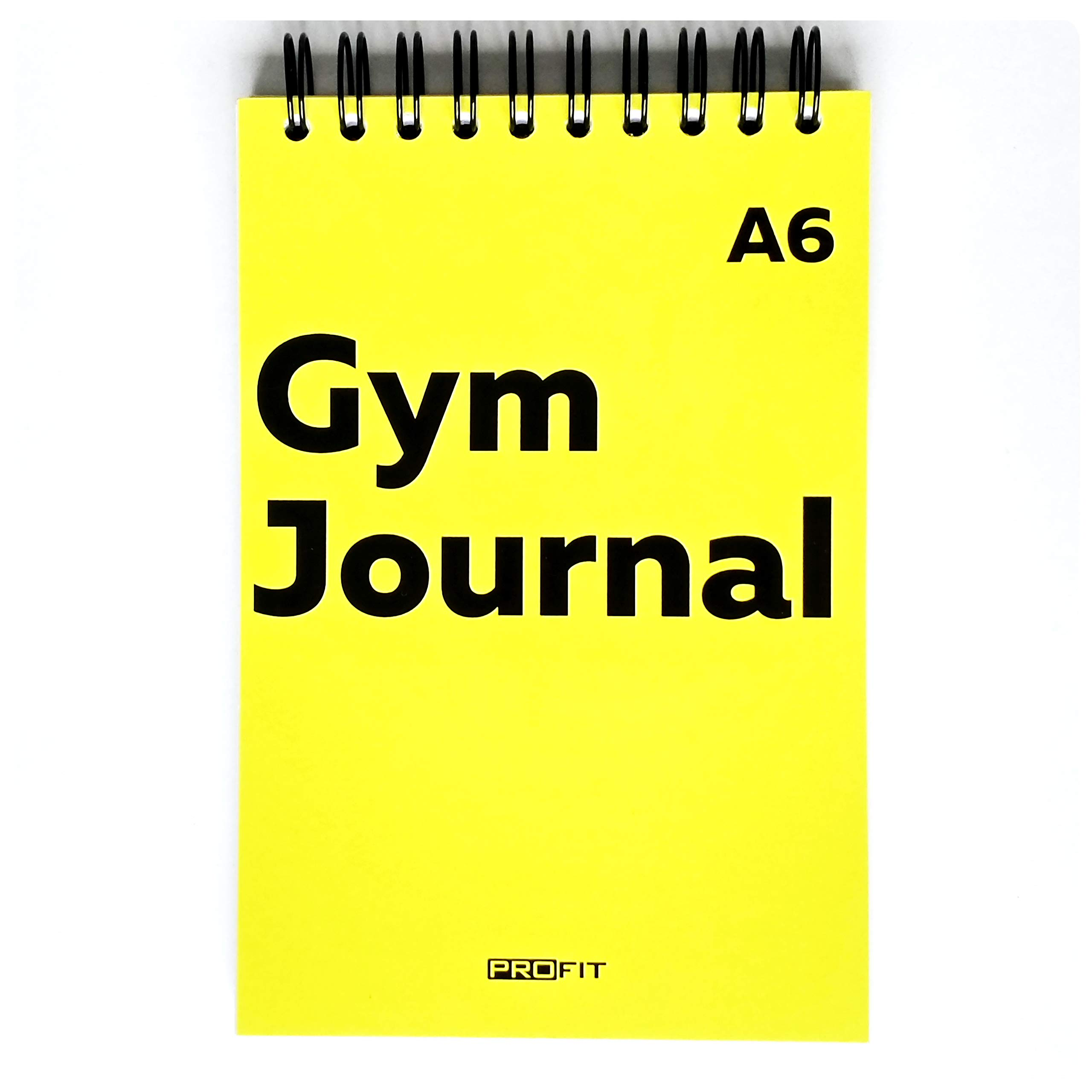 Gym Journal by Profit – 128 Workouts, A6 (4 x 6 inches), 140 Pages, Wire-Bound - Exercise Log Book Designed by Professionals to Get Things Done – Easy to Use Fitness Planner