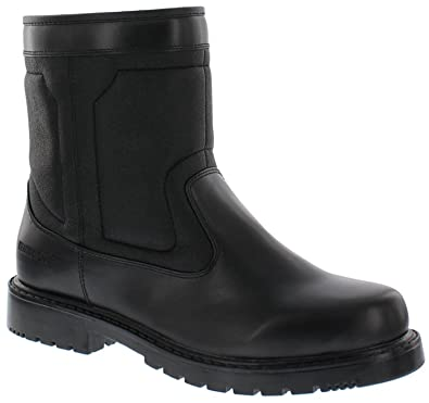 Men's Ronnie Black Snow Boot Synthetically Waterproof and Snowproof Footwear