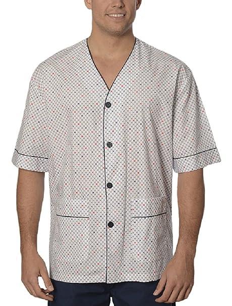 Pijama de Caballero | Pijama de Hombre de Manga Corta clásico Estampado | Ropa de Dormir