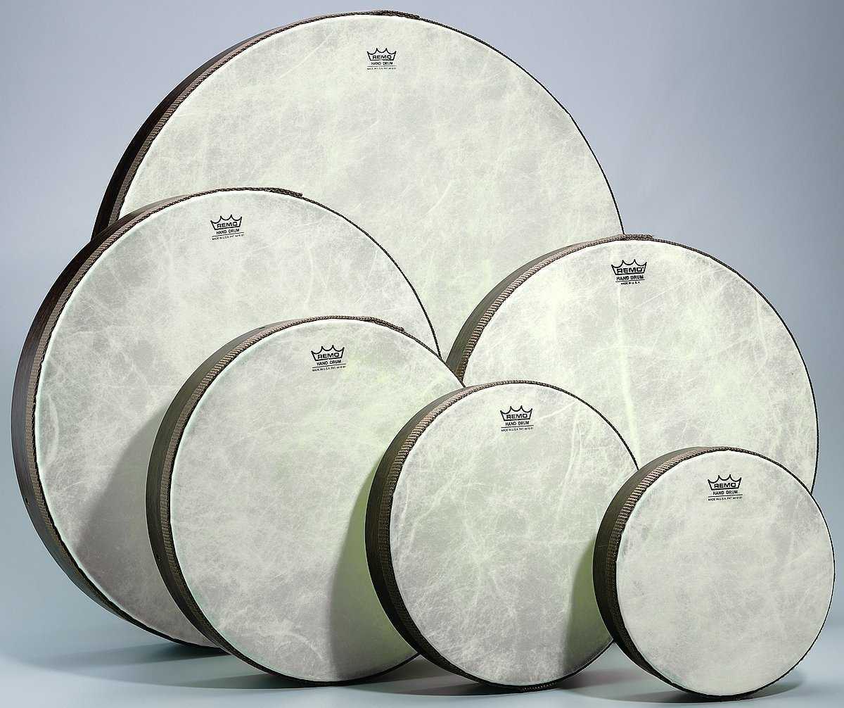 Set of 6 Remo Fiberskyn 8 - 22 inch Hand Drums (Teen/Adult)