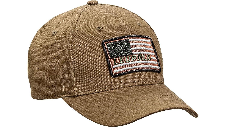 472ce13fb Amazon.com: Leupold Flag Twill Hat Brown: Sports & Outdoors