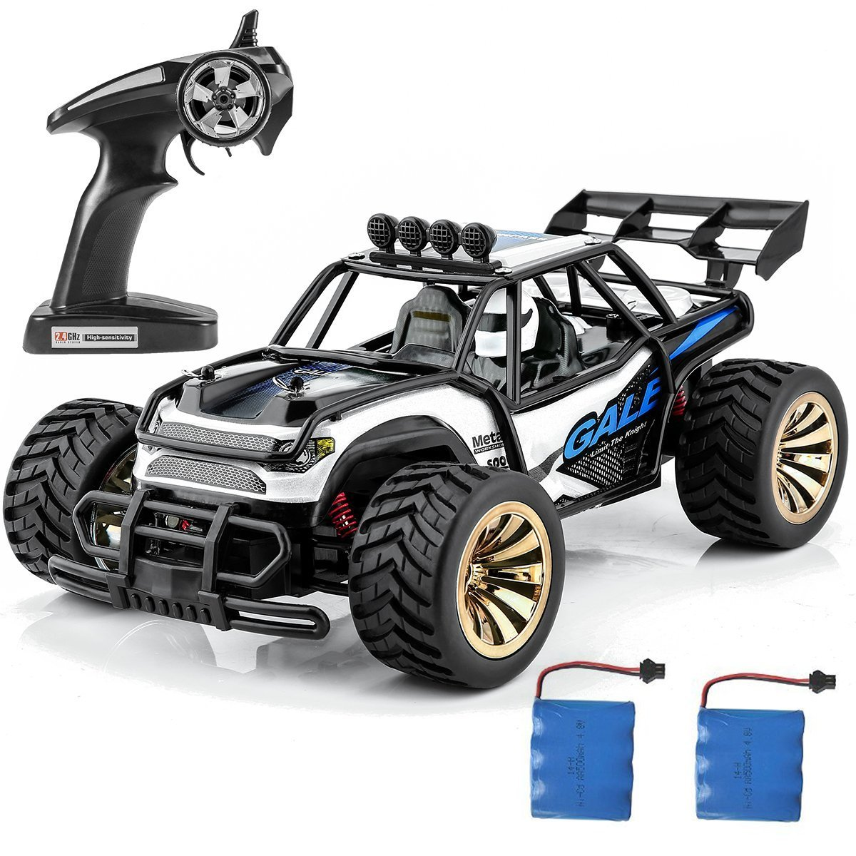 Distianert 1:16 Scale Electric RC Car Off Road Vehicle 2.4GHz Radio Remote Control Car 2W High Speed Racing Monster Truck by Distianert (Image #7)