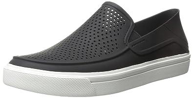 Crocs Men's Citilane Roka Slip-on M Flat, Black/White, ...
