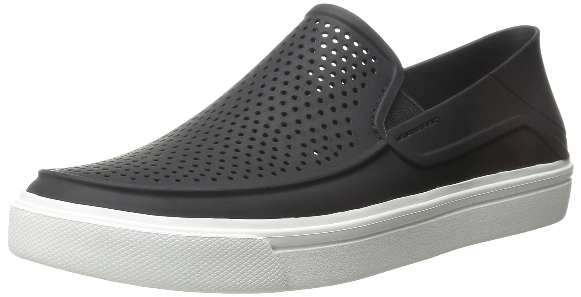 crocs Men's Citilane Roka Slip-On M Flat, Black/White, 9 M US
