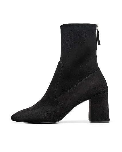 : Zara Women High heel ankle boots with zip 6146