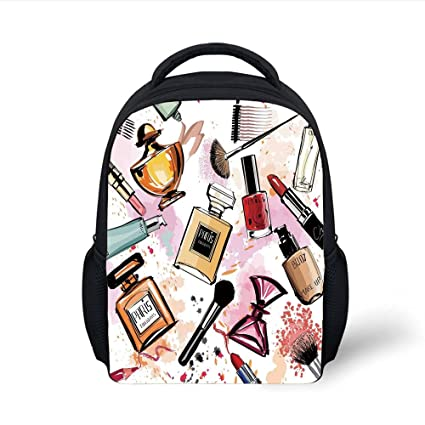 f53bce98c656 Amazon.com: iPrint Kids School Backpack Girls,Cosmetic and Makeup ...