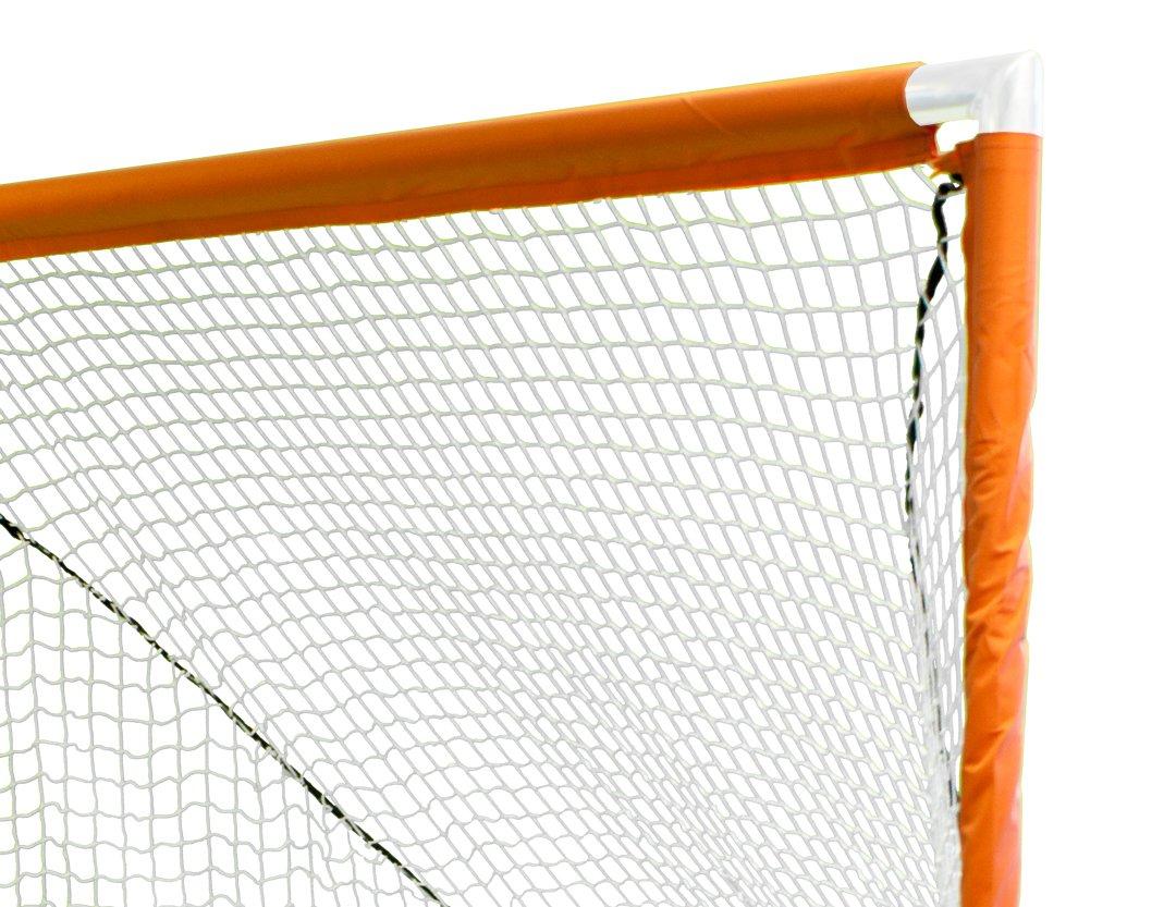 Park & Sun Sports Indoor/Outdoor Nylon Bungee Slip Net Velcro Sleeves: Lacrosse Goal, White, 6' W x 6' H x 7' D
