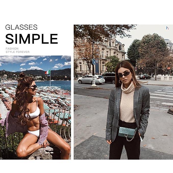 Yiwa moda piccolo telaio occhiali da sole donne sport outdoor traveling occhiali occhiali da sole, White Frame Black Gray Lens