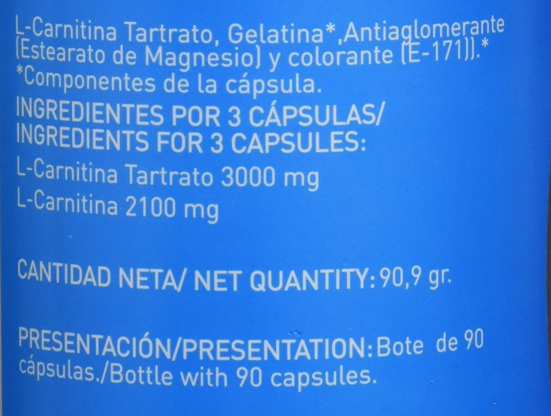 L-Carnitina para potenciar el rendimiento deportivo - capsulas de carnitina con función quemagrasas y antioxidante natural ayuda a perder peso realizando ...