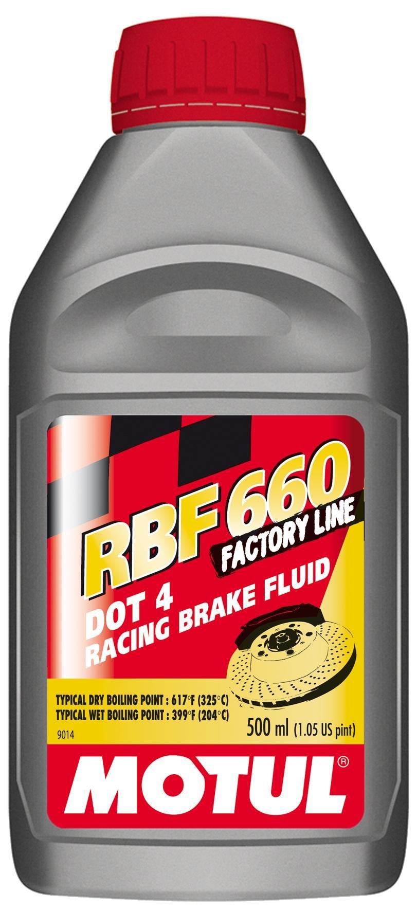 Motul RBF 660 - Racing DOT 4 Brake Fluid 500ml (Pack of 4)