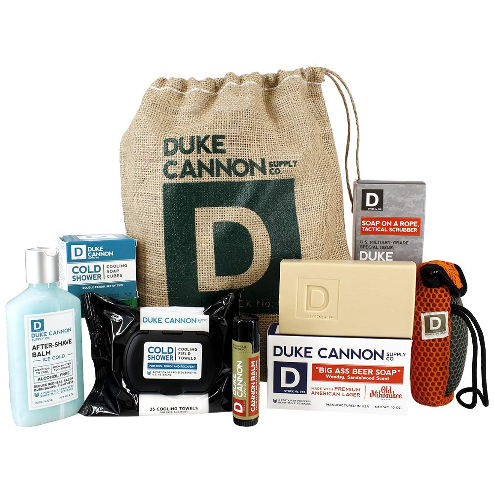 Duke Cannon Ice Cold Beer Shower Sack and Gift Set for Men