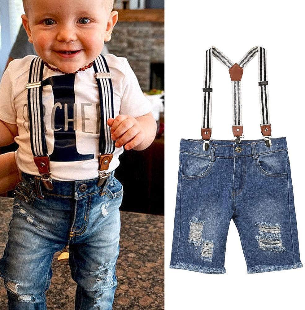 Kmbangi Toddler Kids Baby Girls Bib Overalls Long Suspender Pants Jumpsuit Trousers