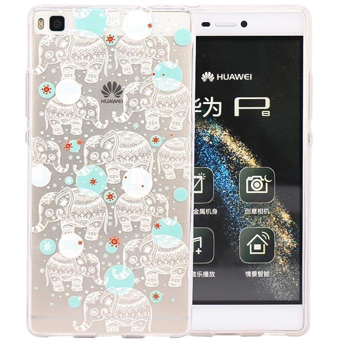 28 opinioni per JIAXIUFEN Huawei P8 Case, TPU Gel Protettivo Skin Custodia Protettiva Shell Case