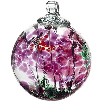 Kitras Art Glass Decorative Spirit Ball, 6-Inch, Fuchsia : Suncatchers : Garden & Outdoor