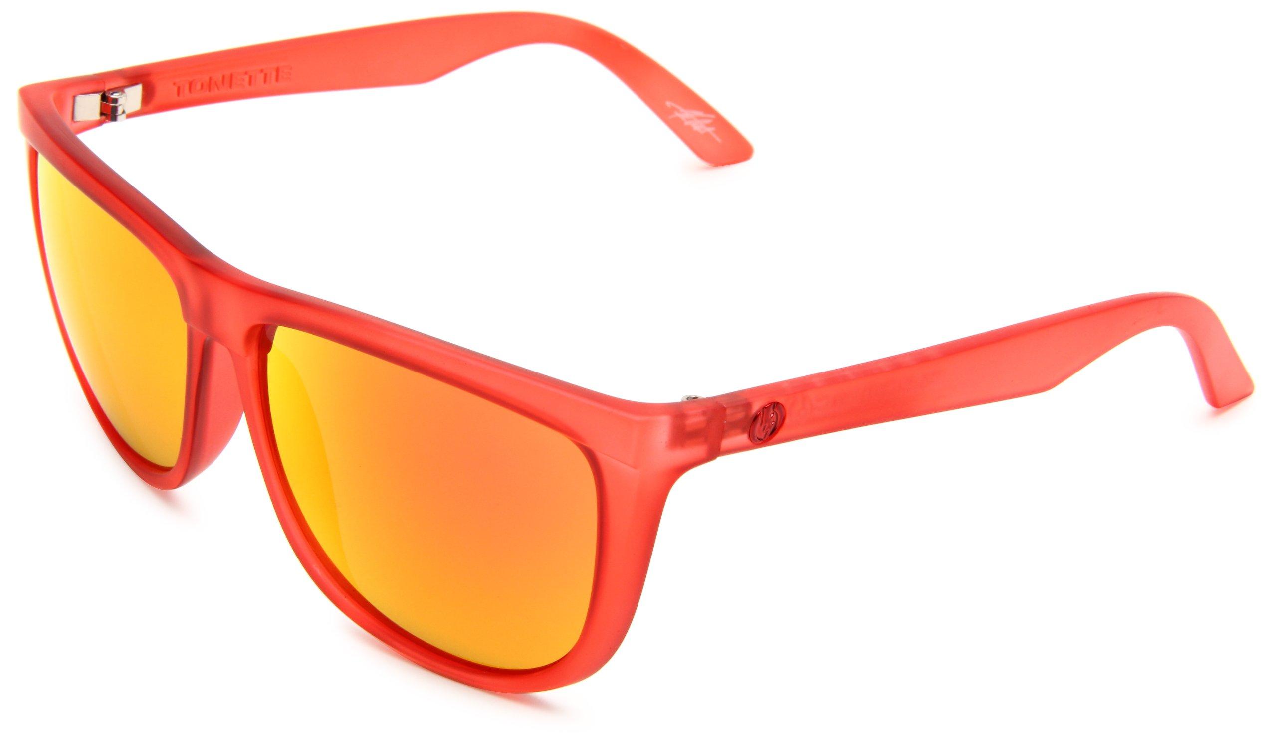 Electric Visual Tonette Reds/Grey Fire Chrome Sunglasses
